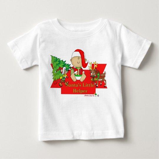 """Santa""""s Little Helper Baby T-Shirt"""