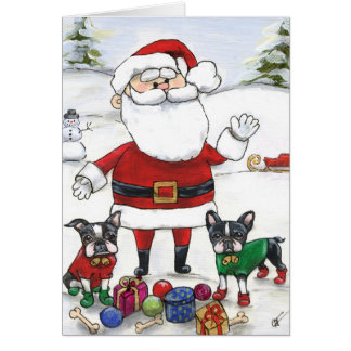 Santa s Little Helpers Greeting Cards