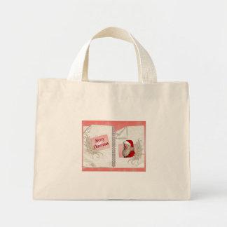Santa`s Merry Christmas Mini Tote Bag