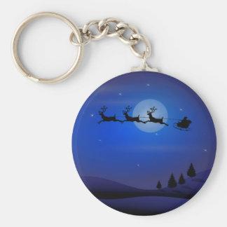 Santa s Midnight Ride Key Chains