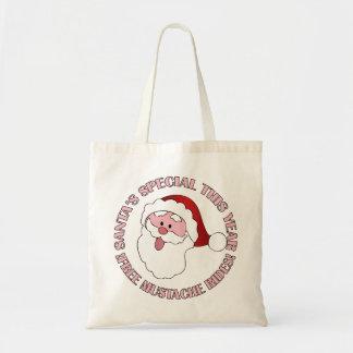 Santa s Mustache Rides bag - choose style