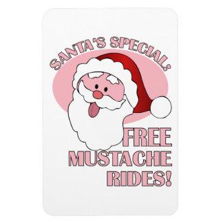Santa s Mustache Rides magnet