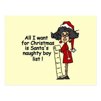 Santa s Naughty Boy List Postcards