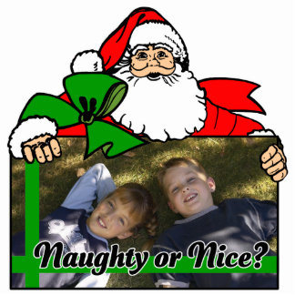 Santa's Naughty or Nice List Photo Frame Statuette