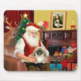 Santa s Pekingese Mouse Pads