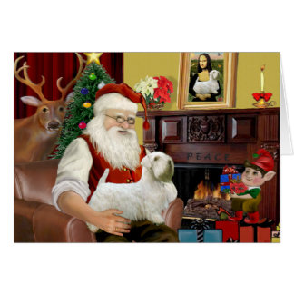 Santa s Sealyham Terrier Greeting Cards