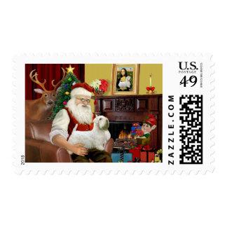 Santa s Sealyham Terrier Postage Stamp