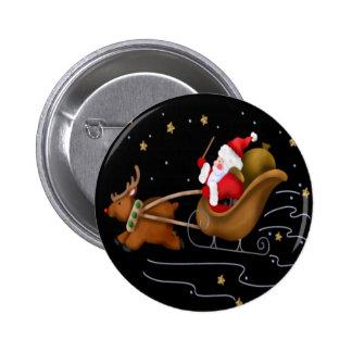 Santa s Sleigh - Button