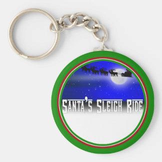 Santa s Sleigh Ride Keychains