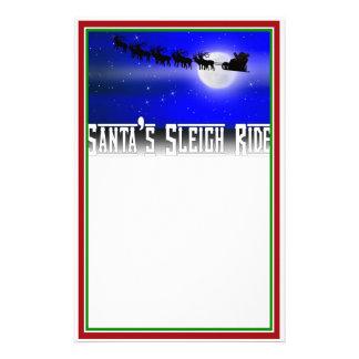 Santa s Sleigh Ride Stationery Paper