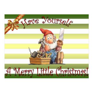 Santa's Workshop Elfs ~ Toolbox Elf ~ Christmas ~ Postcard
