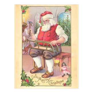 Santa s Workshop Postcard