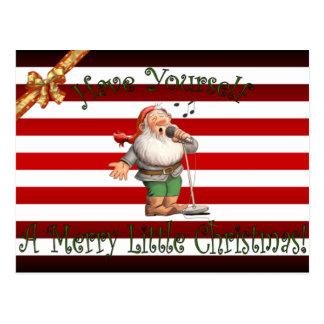 Santa's Workshop ~ Singing Elf ~ Merry Christmas ~ Postcard