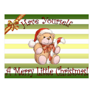 Santa's Workshop ~ Teddy Bear ~Christmas ~Holiday~ Postcard