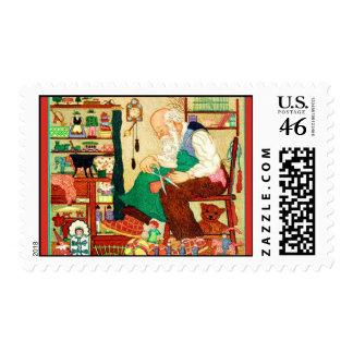 Santa s Workshop Vintage Christmas Stamps