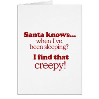 Santa sabe cuándo he estado durmiendo. Encuentro e Felicitacion