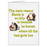Santa sabe dónde viven los malos chicas tarjeton