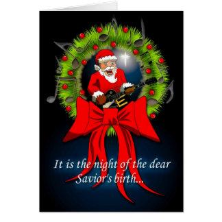 Santa sabe la razón de la estación tarjeta de felicitación