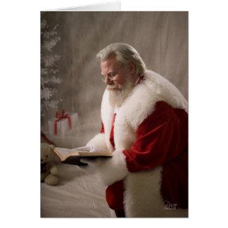 Santa sabe la tarjeta de la razón
