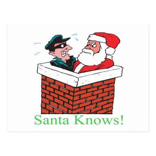 Santa sabe postales