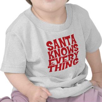 Santa sabe todo camisa