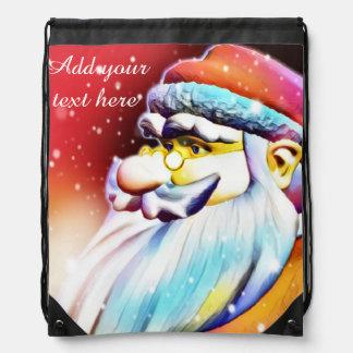 Santa sack pull string pack drawstring bag