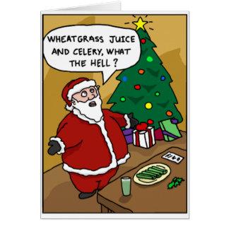 """Santa sano """"qué?"""" Tarjeta"""