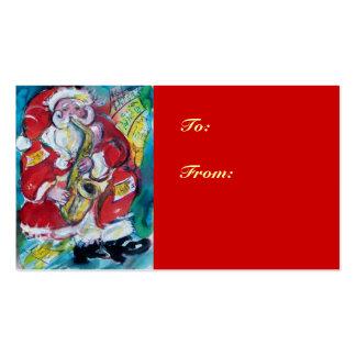 SANTA & SAX, CHRISTMAS PARTY BUSINESS CARD