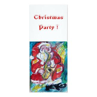 SANTA & SAX, CHRISTMAS PARTY CARD