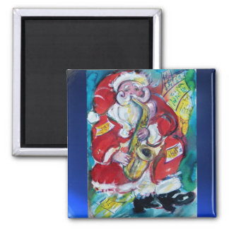 SANTA & SAX, CHRISTMAS PARTY MAGNET
