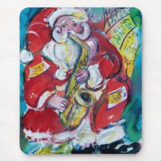 SANTA & SAX, CHRISTMAS PARTY MOUSE PAD