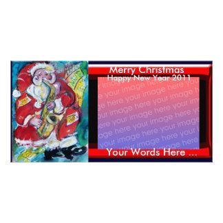 SANTA & SAX, CHRISTMAS PARTY PHOTO CARD