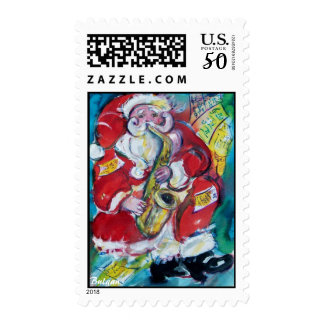 SANTA & SAX, CHRISTMAS PARTY POSTAGE