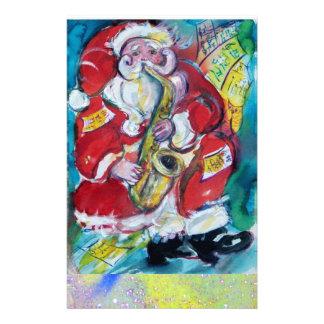 SANTA & SAX, MUSICAL CHRISTMAS PARTY STATIONERY