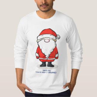 Santa Says Always Keep It Wrapped Tee Shirt