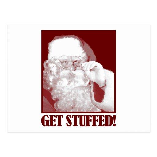Santa says Get Stuffed! Postcard