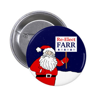 Santa Says Re-Elect a Progressive Congress Pinback Button