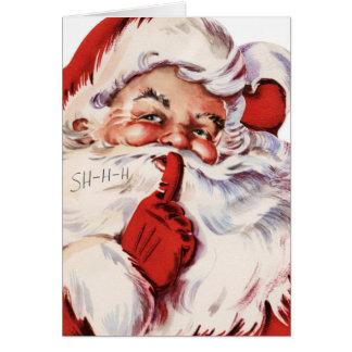 Santa Says Shhh Greeting Cards