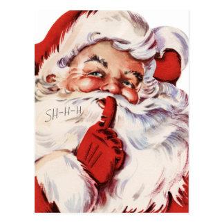 Santa Says Shhh Post Cards