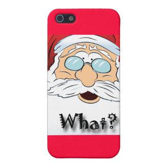 Santa says WHAT? Christmas design Cover For iPhone SE/5/5s