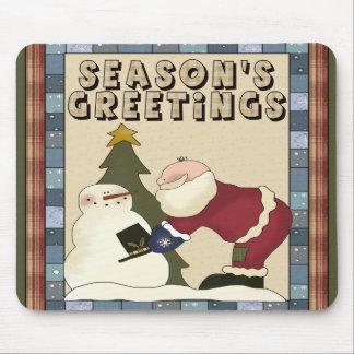 Santa sazona el navidad Mousepad de los saludos Tapetes De Ratones