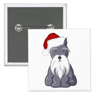 Santa Schnauzer Pins