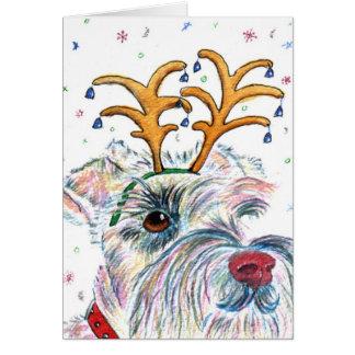 Santa Schnauzer Notecards Stationery Note Card