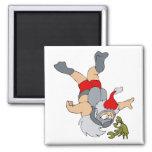 Santa scuba diving fridge magnet
