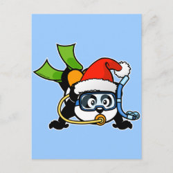 with Santa Claus Scuba Diving Panda design