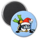 Santa Scuba Panda Magnet