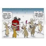 Santa se pegó en navidad Blogging del reno de la c Tarjetón