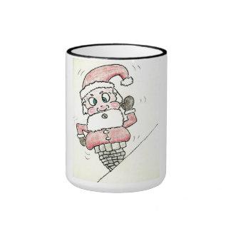 Santa se pegó tazas de café
