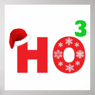 Santa se ríe de navidad póster
