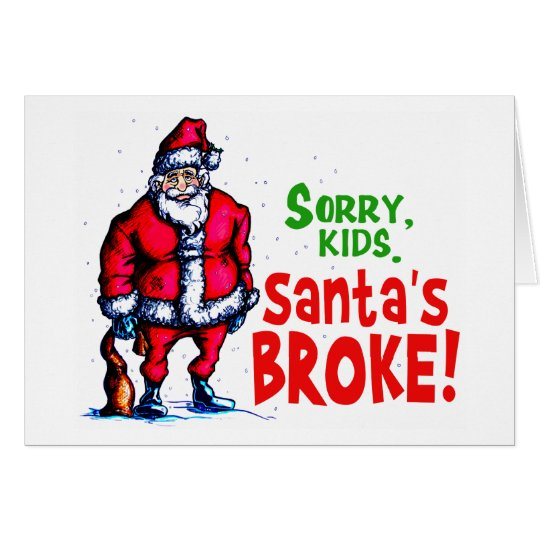 Santa se rompió tarjeta de felicitación